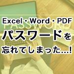Excel・Word・PDF等にかけたパスワードを忘れてしまった時やHDD暗号化解除に協力します!